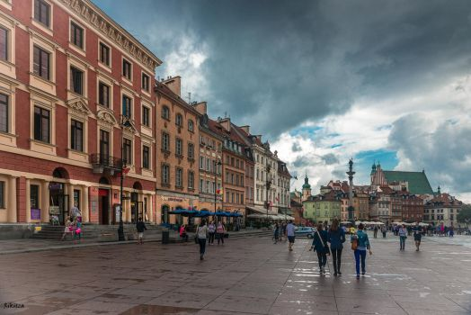cloudy morning in Warsaw by Rikitza