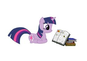 Twilight Sparkle Reading by BCRich40