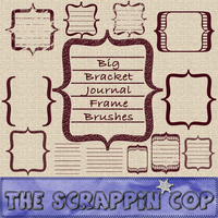ScrappinCop Journal Brushes by debh945