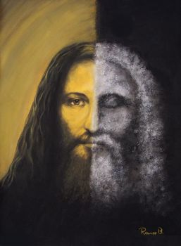 Jesus two faces by palart