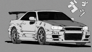 Ilya's Nissan Skyline R34 Initial-D Style by MikeWong2795