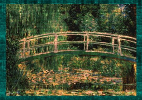 Lilies and Bridge on the wall by dankensei