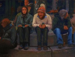 People at the square by IT-Hammar