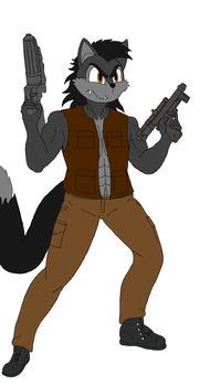 Theo Kronno AKA Doom The Wolf Flat Colored by FirebirdPhoenix87