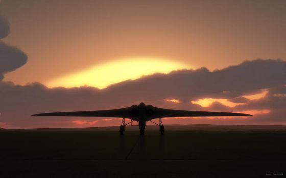 Horten-229 at sunset by kondaspeter1