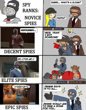 TF2 Spies: From n00bs to Epics by Selecthumor