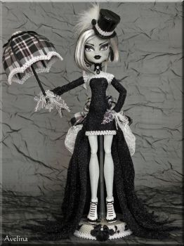 OOAK Victorian Goth Monster High doll by KrisKreations