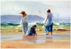 'Breezy Days' Oil on Canvas - Robert Hagan by robert-hagan