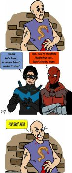 Nightwing and Red Hood by Jasontodd1fan