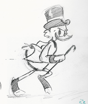 Scrooge McDuck by little-ampharos