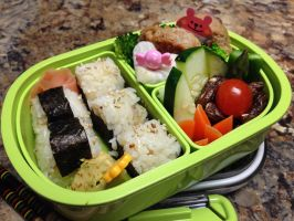 Mini Onigiri Bento by Demi-Plum