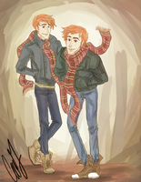 Infamous Firehead Twins by AniPokie