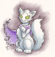 Zeratul Kitty by admiral-squee
