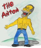 My neighbour as a Simpson... by JokerX2011