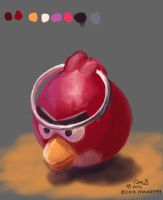 Still-life-08---angry-bird-usb-stick-flattened by maugryph
