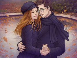 James and Lily Potter by Elena-Barilli