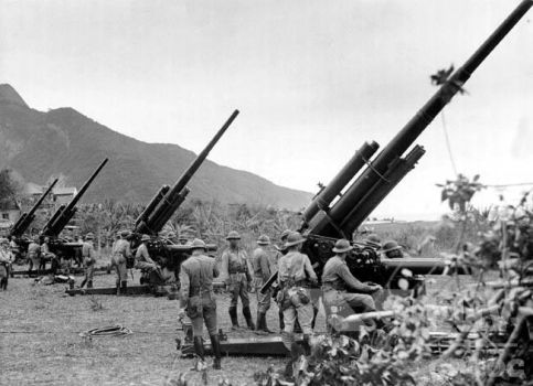 Brazilian anti air cannons, late 1930s by Gukpard