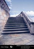 Medieval Stairs by celairen-stock