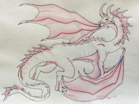Albino Dragon by Tiger1609