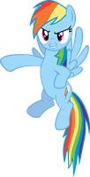 Rainbow Dash points out by exe2001