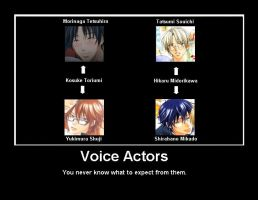 Voice Actors by Yuko-Okite