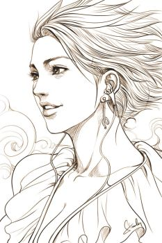 Pepper Sky Sketch (revised) by Artgerm