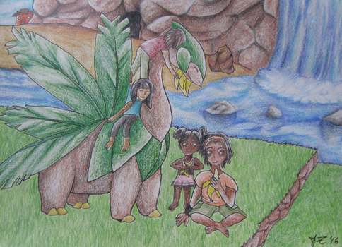 A Snack With Tropius by acaidia