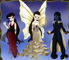 Hellie, Chromaggia, and Caelus by HBCs-Carnie
