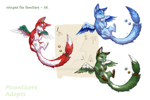 Winged foxys adoptables 2 - CLOSED by Moonticore