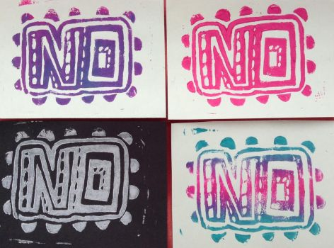 Lino prints by Knockoutdaleks