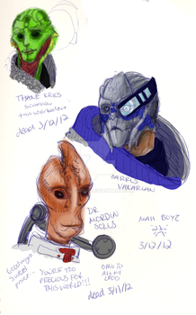 These are a few of my favorite boys. *ME3 SPOILERS by Aj-sama