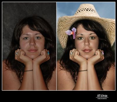 And a little before and after by CindysArt