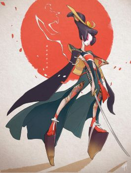 Character Design Challenge: Onna-bugeisha by engkit