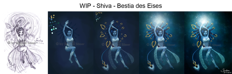Shiva - Bestia of Ice - WIP by Sadako-xD