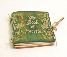 The Book of Secrets, green. by gildbookbinders