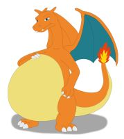 Charizard's big belly by MCsaurus