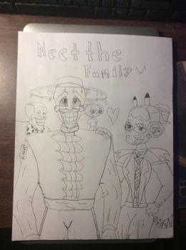 Meet The Family ^w^ (Not Colored)  by JYUSKO