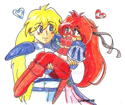 Lina and Gourry by Billie-san