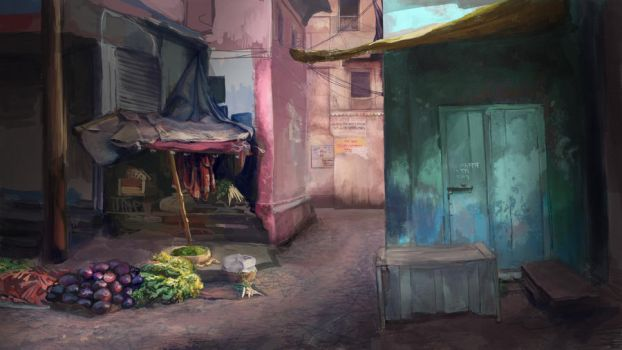 Alleys in India by krupen