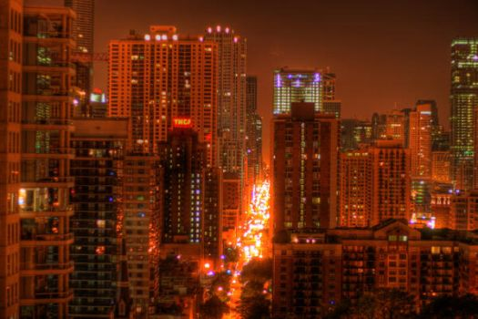 HDR: City Lights by Blinkhero