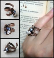 Ring Snejniy plen by JuliaKotreJewelry