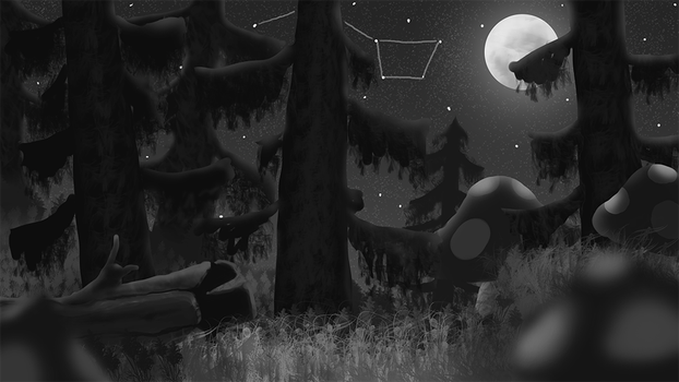Mushroom Forest Sketch by eclipse561
