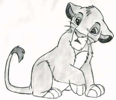 The Lion King - Simba (cub) by 09Dianime