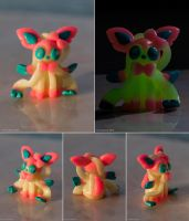 Sylveon Glow in the Dark Miniature by Len-Corcino