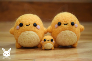 Felted Charmander Family