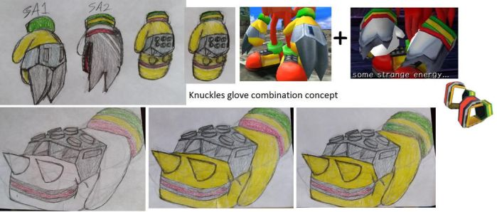 Knuckles glove combination concept by the120cxx