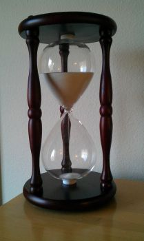 Hourglass Running by MoonlitStock