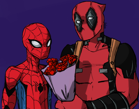 Roses for Spidey by turtletrashworld