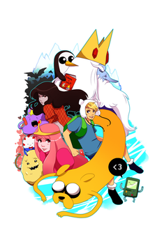 Adventure Time with Finn and Jake by tabby-like-a-cat