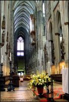 Cologne Cathedral - interior by Faeriedivine